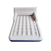 inflatable bed mattress with removable backrest