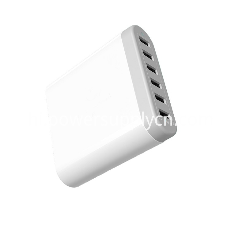 6USB Intelligent Desk top USB Quick Charger 5V10A