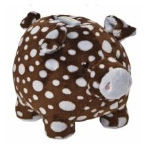 Spotted pig plush toy piggy bank