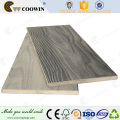 Co-extrusion temporary wood plastic composite decking fence