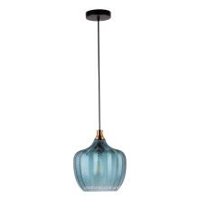 Nueva iluminación colgante moderna interior con color azul