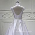 Wedding Dress Satin Wedding Grown  Embroidery Beading Bridal Dress