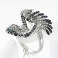 wholesale jewelry fashion small sparkling rhinestone zinc alloy metal women finger ring