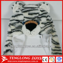 High quality soft bear face plush winter cap with ears