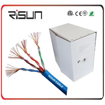 1000 футов навалом рулон синий cat5e многожильный кабель UTP применение кабеля патч