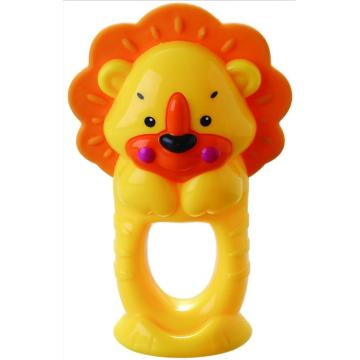 Babybadring Leksak Lion Teether Bell Toy
