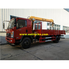 Dongfeng 210HP 9ton Camions-grues