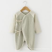 Mameluco de algodón orgánico natural de alta calidad del bebé