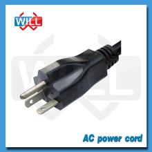 Gran calidad de cable de alimentación desmontable con enchufe de EE.UU.