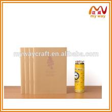 Carnet de couture en soie, bloc-notes en papier Kraft ancien, journal de papier fait à la main