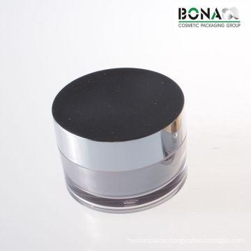 30g Acrylic Cream Jar with Shinny Metallized Cap