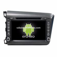 Núcleo Octa! Dvd do carro Android 7.1 para Civic 2012-2015 com tela capacitiva de 8 polegadas / GPS / Link espelho / DVR / TPMS / OBD2 / WIFI / 4G