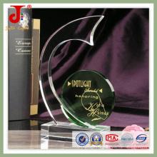 Plaque de trophée en verre de cristal blanc (JD-CT-421)