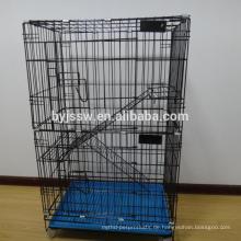 Meistverkaufte Draht Zuchtkäfig Katze mit Rädern