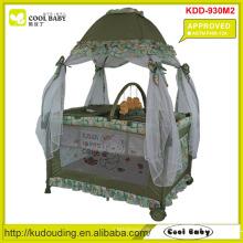 ASTM F406-12A Aprovado NOVO Playpen para o bebê com Mongolian Mosquito Net Estilo