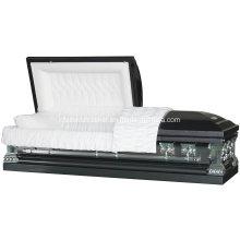 Cercueil de coin carré en acier inoxydable de Jeff Gunmetal