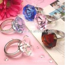 Diamante de cristal, anel de guardanapo de cristal (jd-cjh-004)