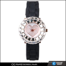 Silikon Armbanduhr für Frauen, Quarzuhr sr626sw