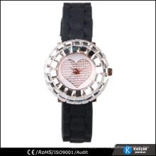 Reloj de pulsera de silicona para mujer, reloj de cuarzo sr626sw