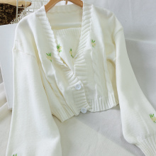 Women Fashion Embroidery Sweater Winter Casual