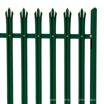 Powder Coated H Post Palisade Fence for Garden