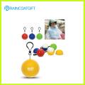 Promocional PE poncho de lluvia Ball Rpe-008