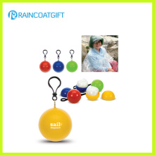 Рекламные PE дождь пончо мяч ПЭС-008