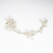 Accessoires de cheveux en cristal d'argent de mariage Coiffe de cheveux de mariée Accessoires de cheveux en gros faits à la main