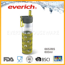 Дешевые пластиковые бутылки с соломенной крышкой Легкое питье