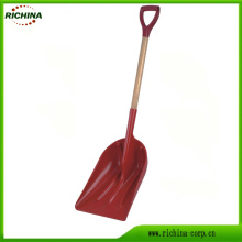 Poly Grain and Snow Scoop with Wood Handle