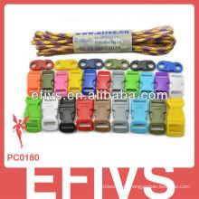 2015 hebillas coloridas del paracord del hotsale