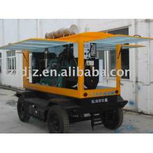G128ZLD1 gerador diesel tipo reboque