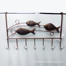 Metal Fish Door Hanger For Home Decoration