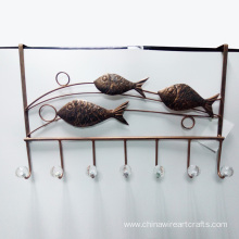 Metal Fish Door Hanger For Home Decoration