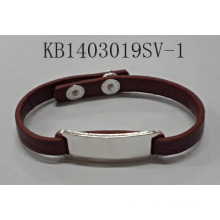 PU Bracelet with Metal Pendant Fashion Jewelry