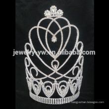 Couronnes personnalisées grande tiare de mariage, couronnes de concours en gros