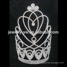 customized crowns large wedding tiara, wholesale pageant crowns