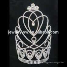 Coroas personalizadas grande tiara de casamento, coroas atacado pageant