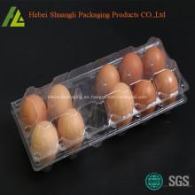 Bandeja transparente transparente de cartón de huevos de plástico transparente