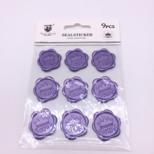 Competitive price custom logo wax sealing stickers