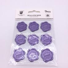 Custom self-adhesive wax seals with company logo
