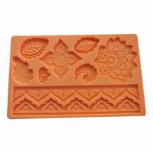 Folk silicone gum paste mold, fondant mold, high quality cake decorating tools C4