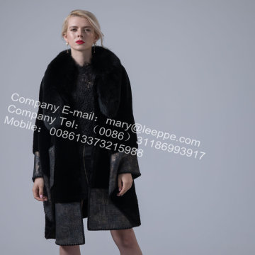Australien Merino Shearling Cape Coat For Women