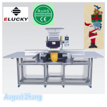 Elucky US big size 15 colors high speed single head embroidery machine with top quality