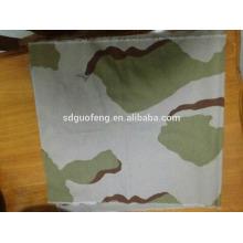 Stocklot TC Camuflagem tecido sarja / ripstop impresso tecido para uniforme / vestuário