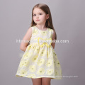 Baby Mädchen Party Kleid Design einfache gelbe Kinder Mädchen Kleid schönes Mädchen ohne Kleid