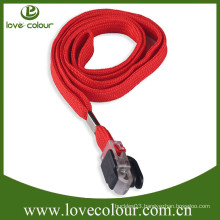 Polyester custom promotional gift tube lanyard no minimum order