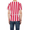 T-shirt rayé à encolure ras du cou personnalisé rayé t-shirt en coton spandex slim fit