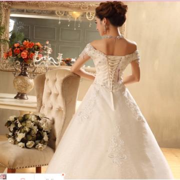 White Strapless for Bride Wedding Dress