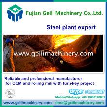 Apara de aço para planta de fundição contínua